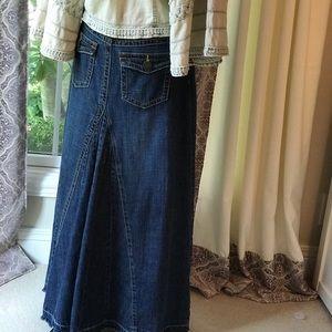 kenzie Skirts - Kenzie denim maxi skirt